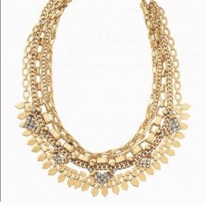 Stella & Dot Gold Sutton Convertible Necklace